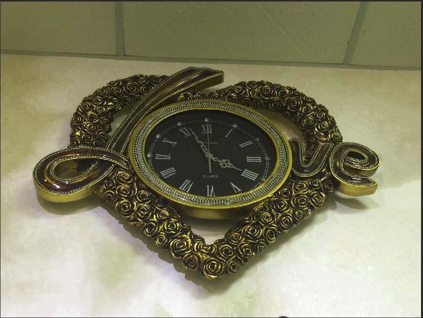 đồng hồ trang trí DH325D mầu đồng