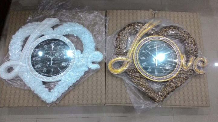 ảnh thật đồng hồ treo tường trang trí DH325