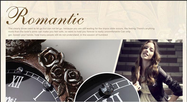 đồng hồ trang tri treo tường lãng mạn và nổi bật
