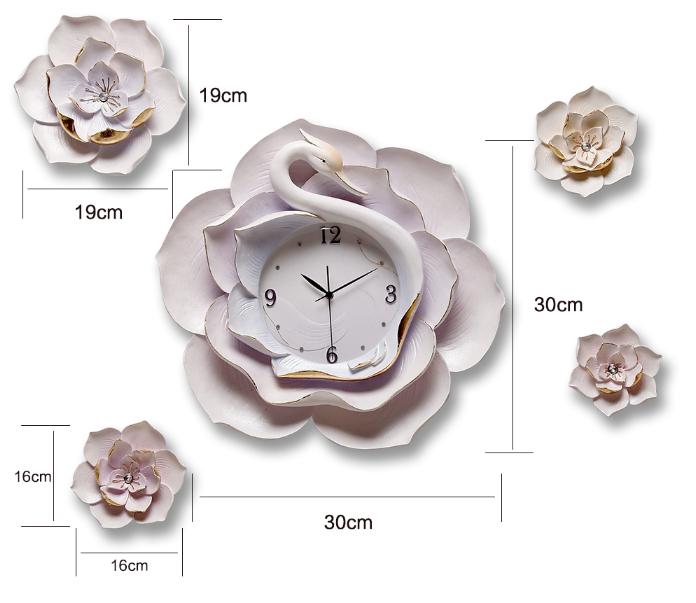 đồng hồ trang trí phòng khách dh18