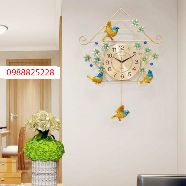 đồng hồ trang trí phòng khách dh32