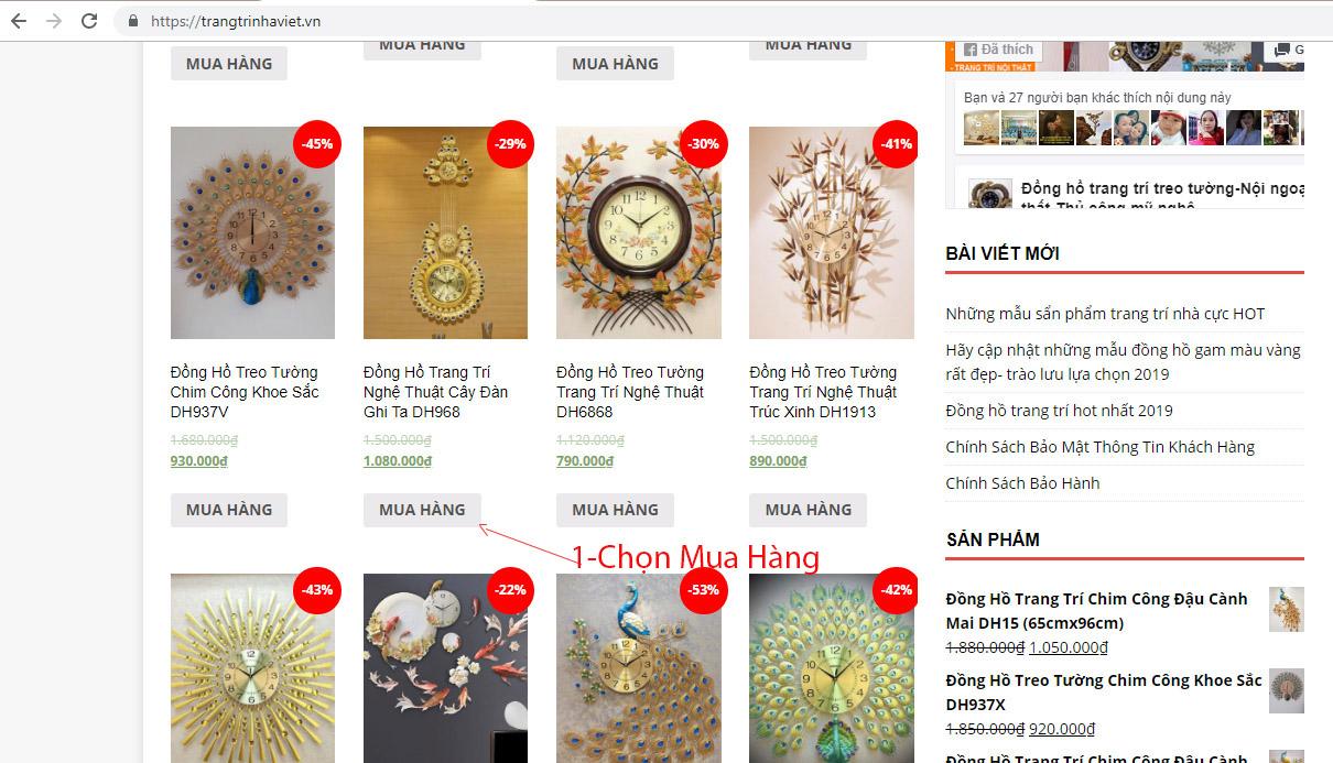 Hỗ Trợ Mua Hàng Online Tại Trang Trí Nhà Việt