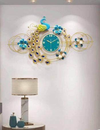 đồng hồ trang trí chim công hoàng gia kiêu sa dh199