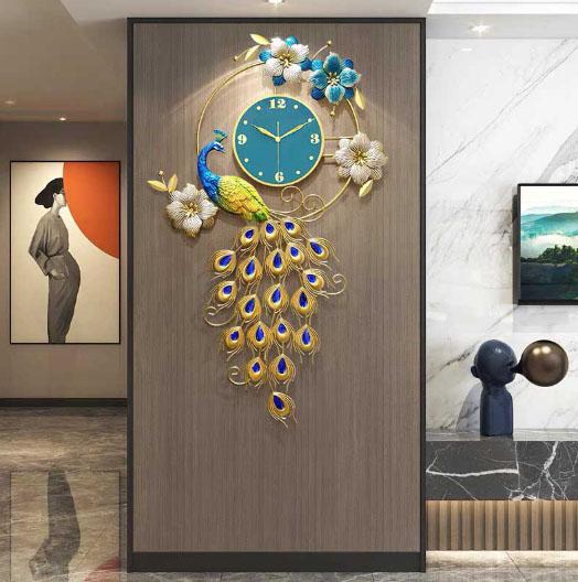 đồng hồ trang trí treo tường phòng khách dh202