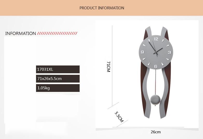 Kích thước đồng hồ trang trí ql01