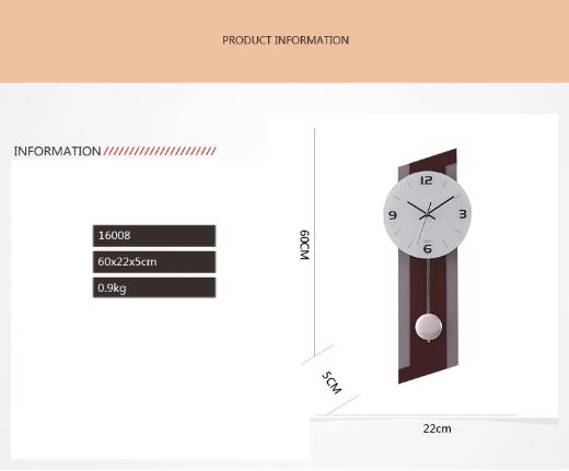 Kích thước đồng hồ trang trí quả lắc ql04